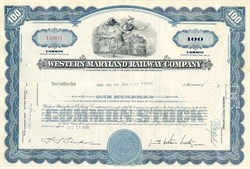 Western Maryland Railway Company Stock