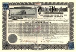 Western Maryland Railroad Company issued to John D. Rockefeller 1917