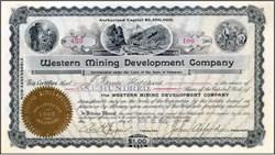 Western Mining Development Company 1902