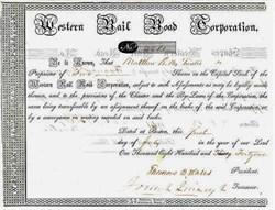 Western Rail Road Corporation signed by Mayor of Boston, Josiah Quincy, Jr. - Boston 1841