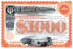 West Shore Railroad Company - $1000 400 Year Junk Bond - Due in the year 2361