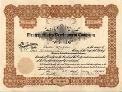 Western States Development Company 1926