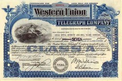 Western Union Telegraph Company (Western Union no longer sending telegrams)