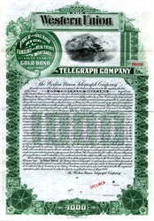 Western Union Telegraph Company - New York 1900