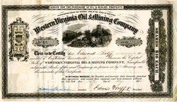 Western Virginia Oil and Mining Company -  New York 1865