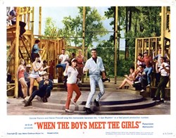When the Boys Meet the Girls Lobby Card Starring Connie Francis and Harve Presnell - 1965