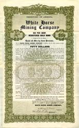 White Horse Mining Company -  Yavapai. Squaw Creek. Arizona 1908