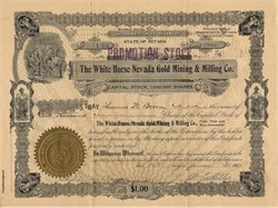 White Horse Nevada Gold Mining & Milling Co. - Wadsworth, Nevada 1911