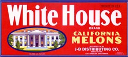 White House Brand Crate Label - Image of White House