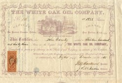White Oak Oil Company - West Virginia 1865