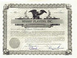 Wharf Players, Inc. signed by Bruce Ariss  - Cannery Row Monterey, California 1951