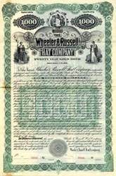 Wheeler & Russell Hat Company Gold Bond - Newark, New Jersey 1897