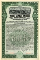 White Sewing Machine Corporation Gold Bond - Delaware 1926