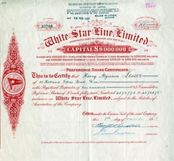 White Star Line, Limited ( Owned the Titanic) - 1927
