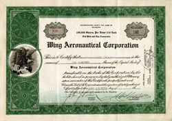 Wing Aeronautical Corporation - Delaware 1933