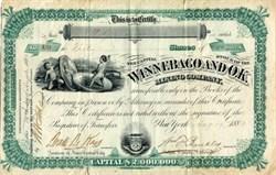 Winnebago and OK Mining Company - Central City, Colorado 1880