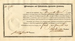 Wilmington and Philadelphia Turnpike Company - Delaware 1814