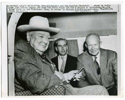 Winston Churchill & Dwight Eisenhower Authentic Wire Photo - 1959