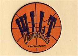Wilt Chamberlain Signed Coaster - 1991