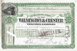 Wilmington & Chester Traction Company - New Jersey 1898