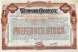Windsor Company - New Jersey 1890's