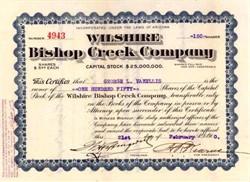 Wilshire Bishop Creek Company 1910