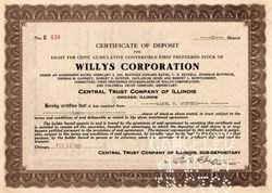 Willys Corporation 1920's ( Famous Jeep Company )