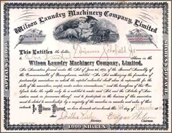 Wilson Laundry Machinery Company, Limited 1888 - Pennsylvania