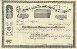 Williams Manufacturing Company 1860's - Basket Vignette