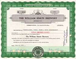 William Simon Brewery 1972 - Buffalo, New York signed by William Simon