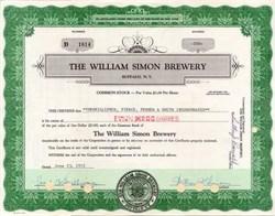 William Simon Brewery 1972 - Buffalo, New York signed by William Simon