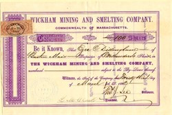 Wickham Mining and Smelting Company -Incorporated in Massachusetts - Properties in Township of Wickham, County of Drummond, in the District of Arthabaska in the Province of Canada - 1863