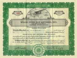 Wings Over San Antonio, Inc. 1936 Motion Picture
