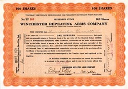Winchester Repeating Arms Company issued to Winchester Bennett - 1929