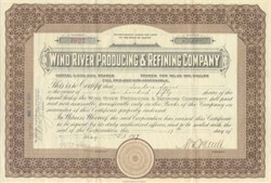 Wind River Producing and Refining Company 1919
