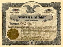 Wicomico Oil and Gas Company  - Maryland / Delaware 1917