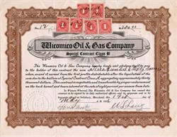 Wicomico Oil & Gas Company - Salisbury,  Maryland 1916
