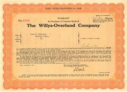 Willys - Overland Company - New York 1928