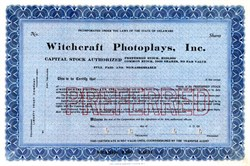 Witchcraft Photoplays, Inc. - Delaware