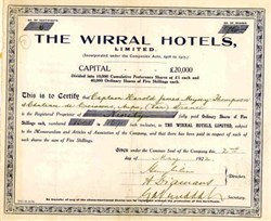 Wirral Hotels - 1922 UK