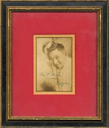 Will Rogers SIGNED and Framed Picture