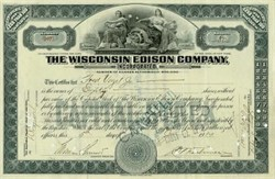 Wisconsin Edison Electric Company Stock 1914