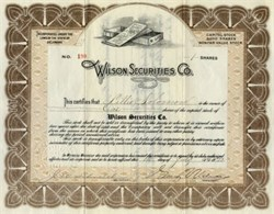 Wilson Securities Co.- Delaware 1923