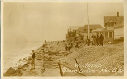 Old Photo Postcard of Winthrop Shore Drive, Massachusetts  - 1931