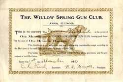 Willow Spring Gun Club ( Spaniel Dog Vignette) - Anna, Illinois - 1910