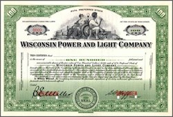 Wisconsin Power and Light Company ( Now Alliant Energy )