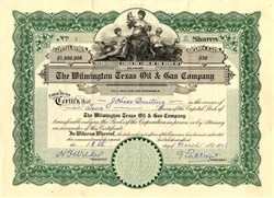 Wilmington Texas Oil & Gas Company - Delaware 1926