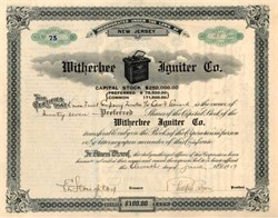 Witherbee Igniter Co. 1917 became Wico Electric Company ( Early Johnson Controls Company )