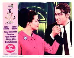 """What's New Pussycat?"" Lobby Card Starring Peter Sellers and Peter O'Toole - 1965"