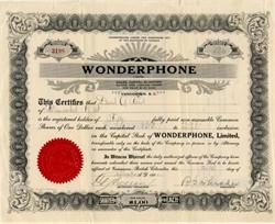 Wonderphone, Limited - Vancouver, British Columbia, Canada 1922